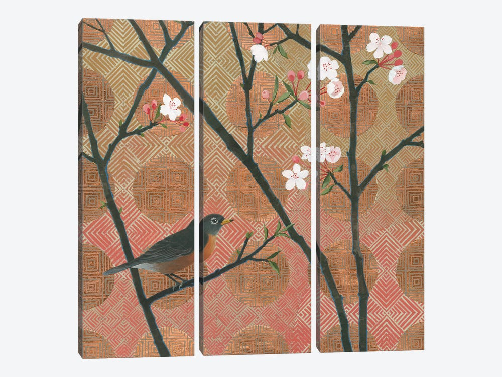 Cherry Blossoms II by Kathrine Lovell 3-piece Canvas Print