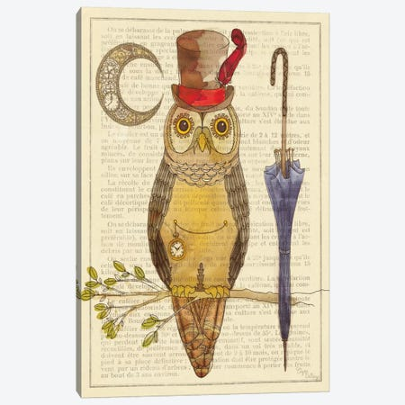 Steampunk Owl I Canvas Print #WAC490} by Elyse DeNeige Canvas Print