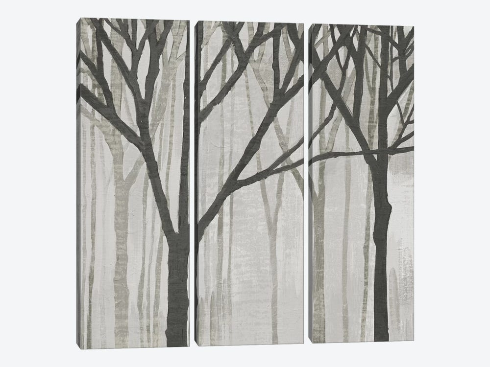 Spring Trees Greystone III by Kathrine Lovell 3-piece Canvas Art Print