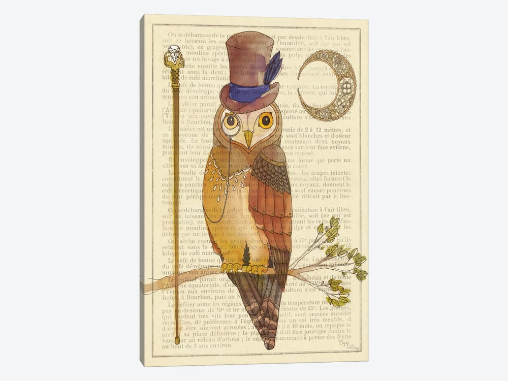 Steampunk Owl II 1-piece Art Print