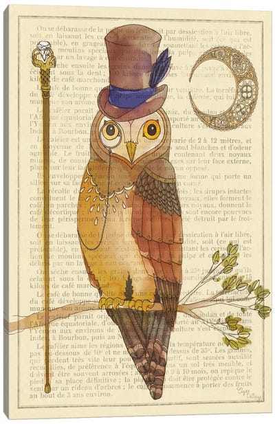 Steampunk Owl II Canvas Art Print