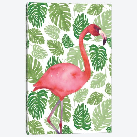 Tropical Flamingo I Canvas Print #WAC4933} by Wild Apple Portfolio Art Print