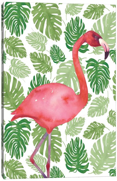 Tropical Flamingo I Canvas Art Print