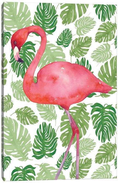 Tropical Flamingo II Canvas Art Print