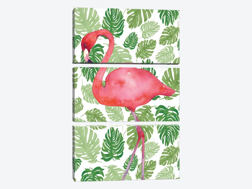Tropical Flamingo II by Wild Apple Portfolio 3-piece Canvas Print