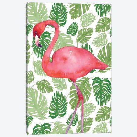 Tropical Flamingo II Canvas Print #WAC4934} by Wild Apple Portfolio Canvas Wall Art