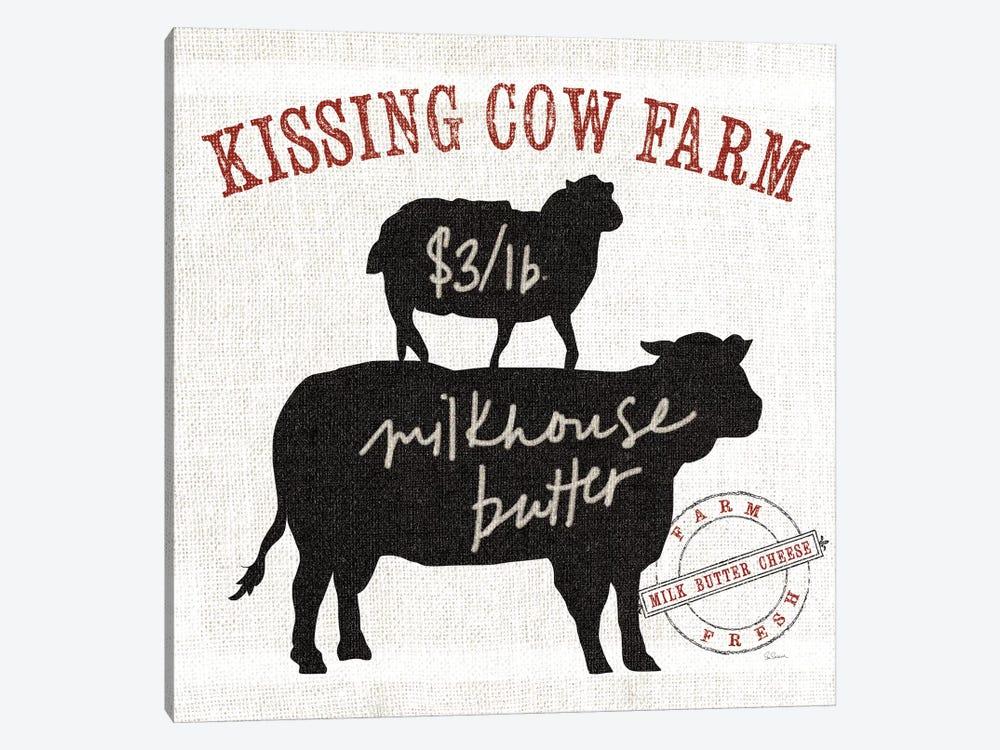 Farm Linen Cow by Sue Schlabach 1-piece Canvas Wall Art