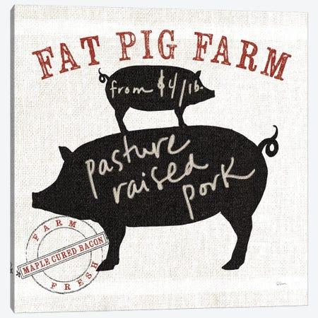 Farm Linen Pig Canvas Print #WAC4937} by Sue Schlabach Canvas Wall Art