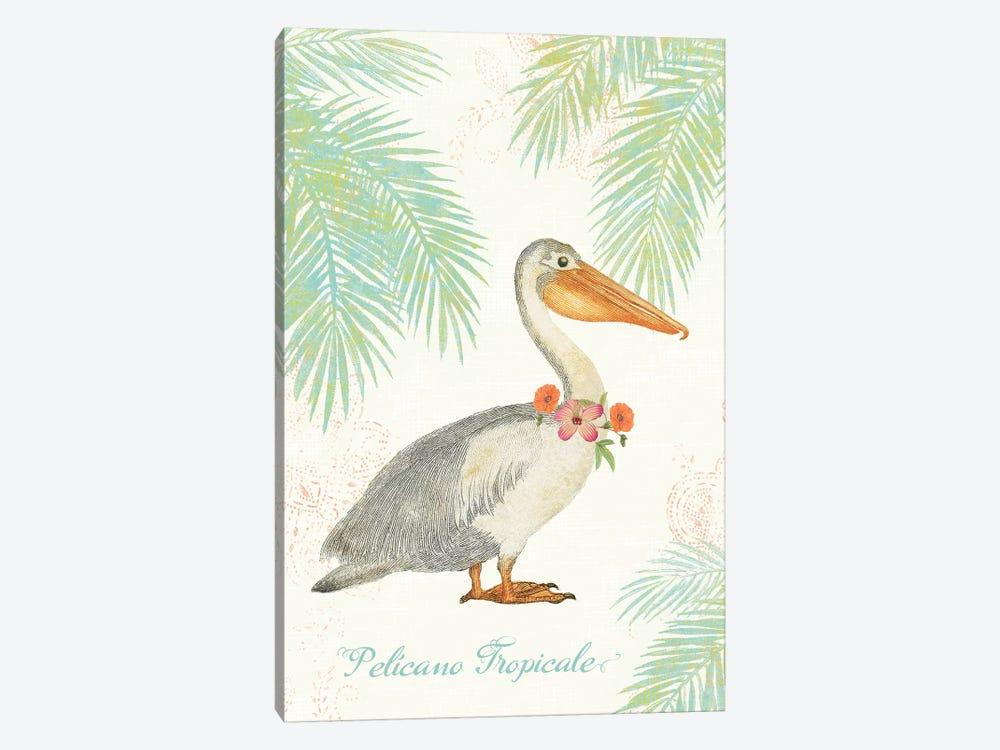 Flamingo Tropicale I by Sue Schlabach 1-piece Canvas Artwork