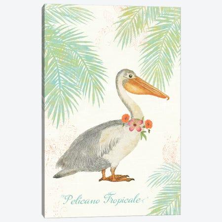 Flamingo Tropicale I Canvas Print #WAC4939} by Sue Schlabach Canvas Art Print