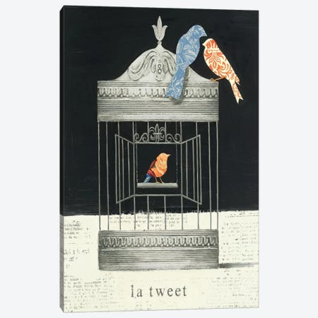 La Tweet Canvas Print #WAC493} by Emily Adams Canvas Art Print