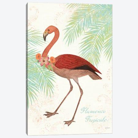 Flamingo Tropicale II Canvas Print #WAC4940} by Sue Schlabach Canvas Artwork