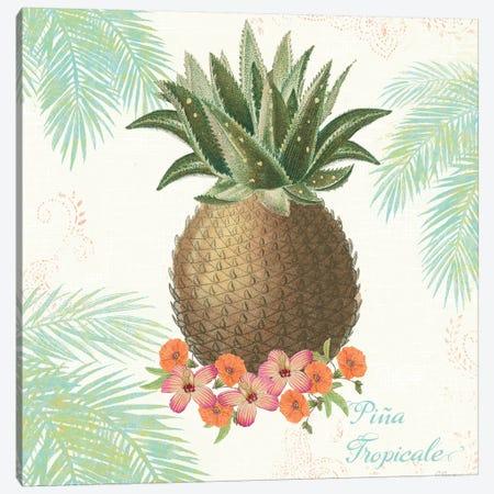 Flamingo Tropicale IV Canvas Print #WAC4942} by Sue Schlabach Canvas Wall Art