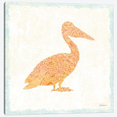 Flamingo Tropicale IX Canvas Print #WAC4943} by Sue Schlabach Canvas Wall Art