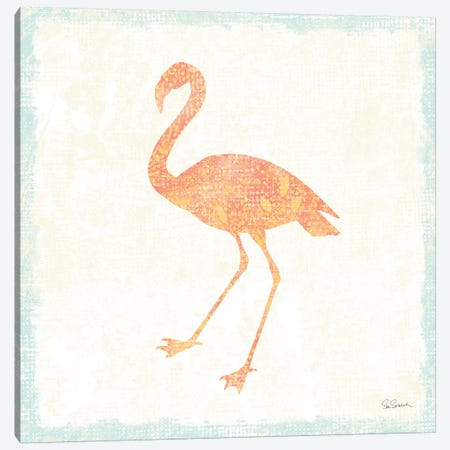 Flamingo Tropicale VI Canvas Print #WAC4945} by Sue Schlabach Canvas Print