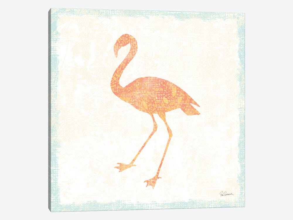 Flamingo Tropicale VI by Sue Schlabach 1-piece Canvas Art Print
