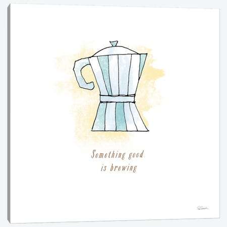 Good Brew I Canvas Print #WAC4957} by Sue Schlabach Canvas Artwork