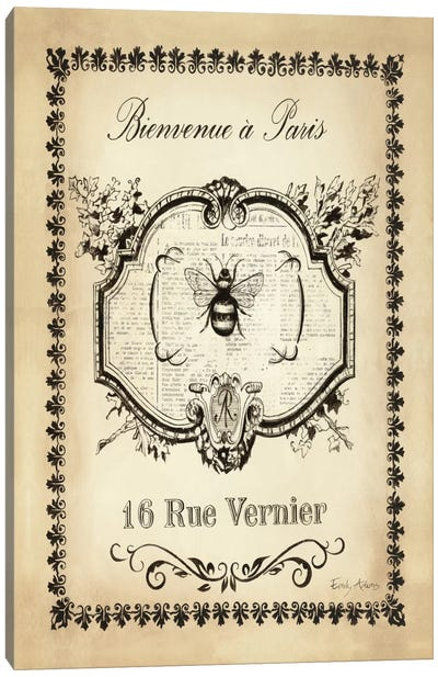 Paris Bees I Canvas Art Print