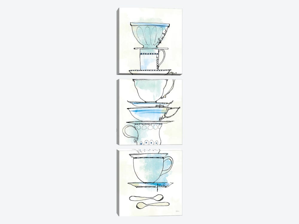 Good Brew IX by Sue Schlabach 3-piece Canvas Art Print
