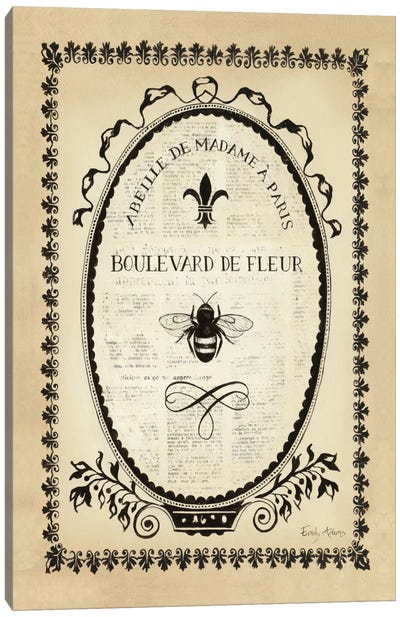 Paris Bees II Canvas Art Print