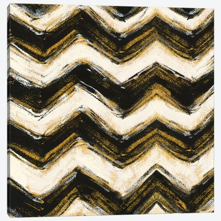 Black And Gold Geometric IX Canvas Print #WAC4971} by Shirley Novak Canvas Print