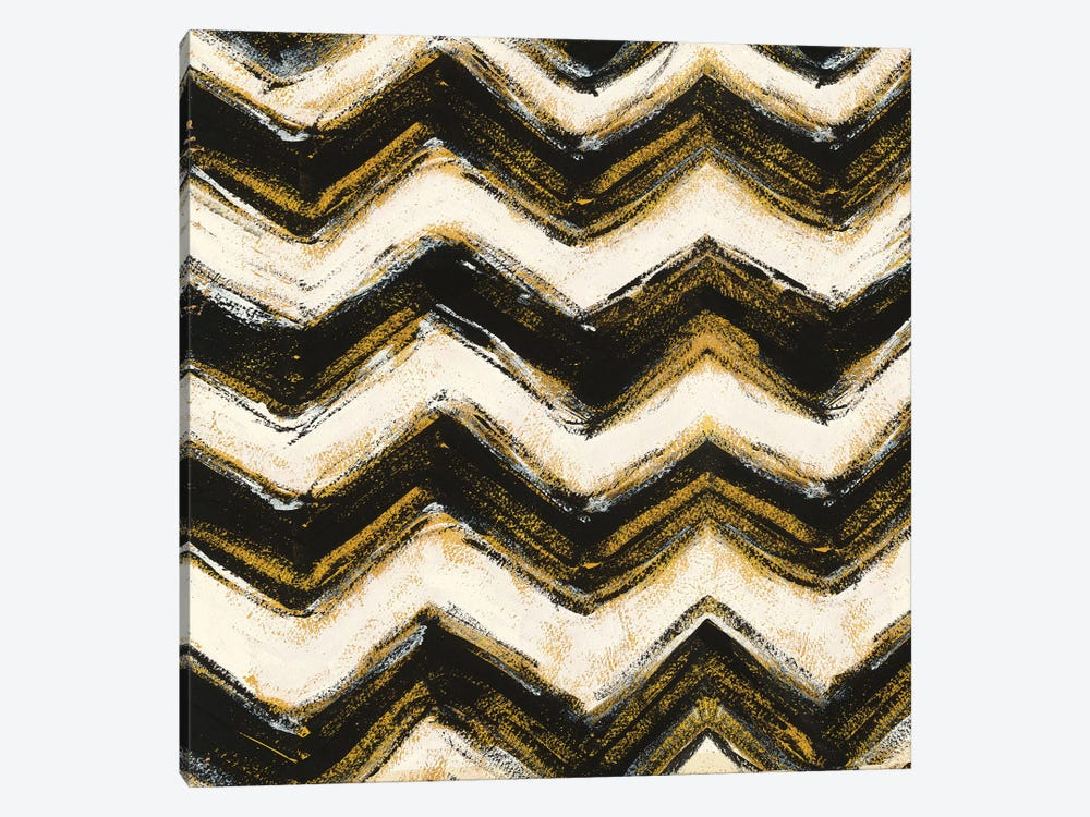 Black And Gold Geometric IX by Shirley Novak 1-piece Canvas Wall Art