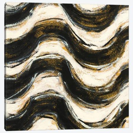 Black And Gold Geometric V Canvas Print #WAC4972} by Shirley Novak Canvas Print