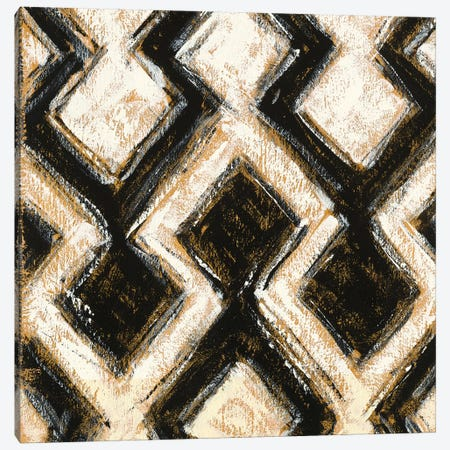 Black And Gold Geometric VIII Canvas Print #WAC4975} by Shirley Novak Canvas Art