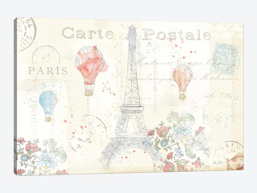 Lighthearted In Paris I by Katie Pertiet 1-piece Canvas Wall Art