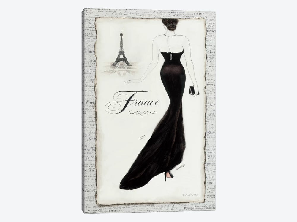 Elegance I by Emily Adams 1-piece Canvas Print