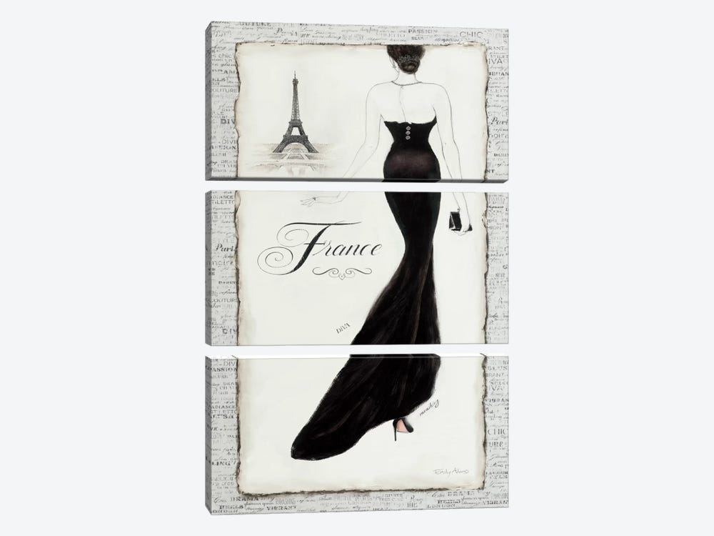 Elegance I by Emily Adams 3-piece Art Print