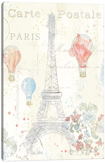 Lighthearted In Paris II Canvas Art Print