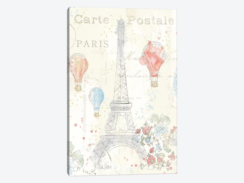 Lighthearted In Paris II by Katie Pertiet 1-piece Canvas Artwork