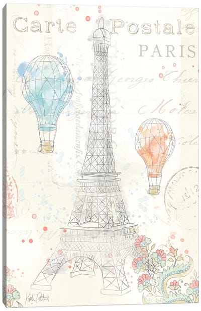 Lighthearted In Paris III Canvas Art Print