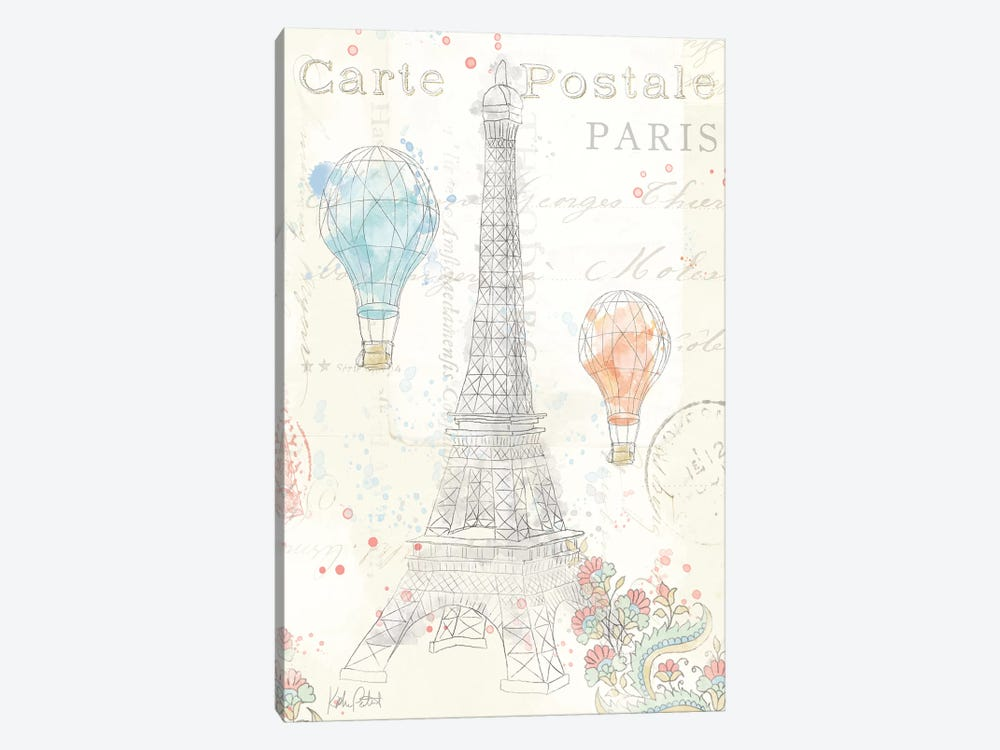 Lighthearted In Paris III by Katie Pertiet 1-piece Canvas Print
