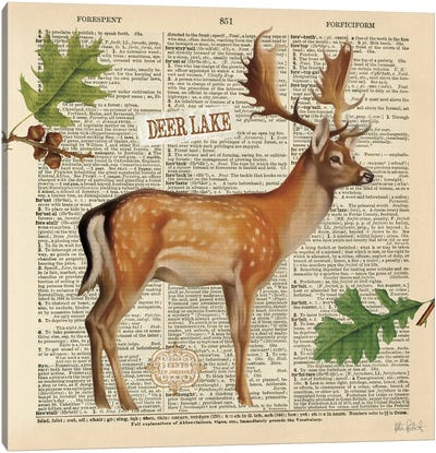 Lodge Collage III Canvas Art Print