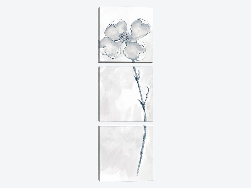 Solitary Dogwood III by Chris Paschke 3-piece Canvas Artwork
