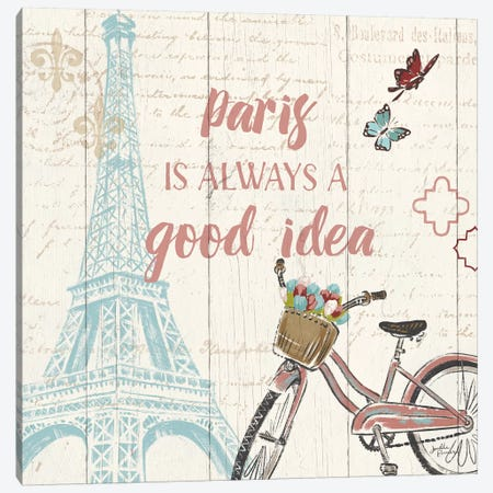 Paris Tour IV Canvas Print #WAC5028} by Janelle Penner Canvas Wall Art