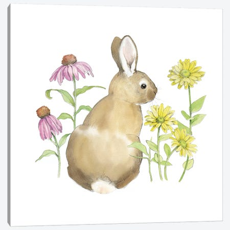 Wildflower Bunnies I Canvas Print #WAC5035} by Beth Grove Canvas Wall Art