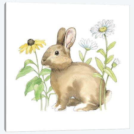 Wildflower Bunnies II Canvas Print #WAC5036} by Beth Grove Canvas Artwork