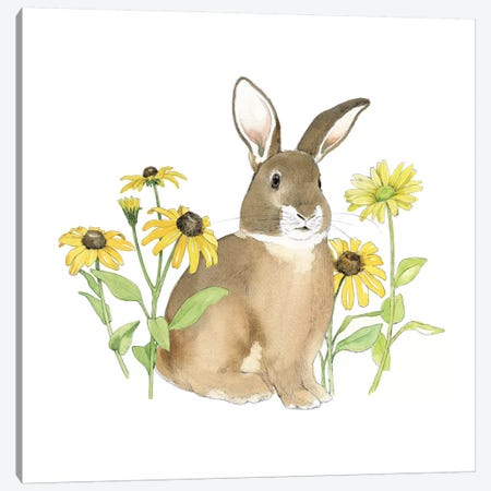 Wildflower Bunnies III Canvas Print #WAC5037} by Beth Grove Canvas Art
