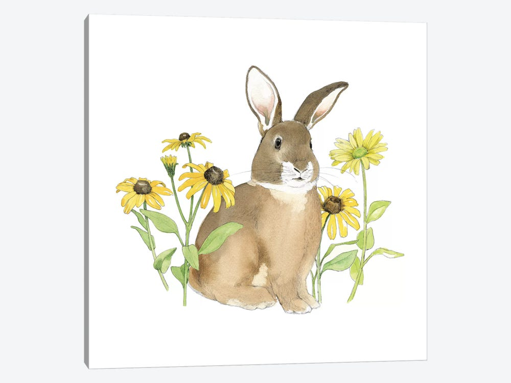 Wildflower Bunnies III by Beth Grove 1-piece Canvas Wall Art