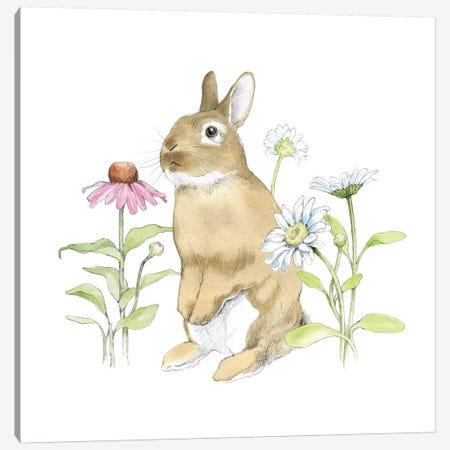 Wildflower Bunnies IV Canvas Print #WAC5038} by Beth Grove Art Print