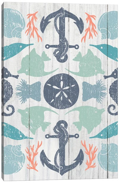 Coastal Otomi I Canvas Art Print
