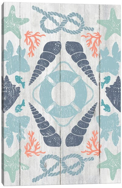 Coastal Otomi II Canvas Art Print