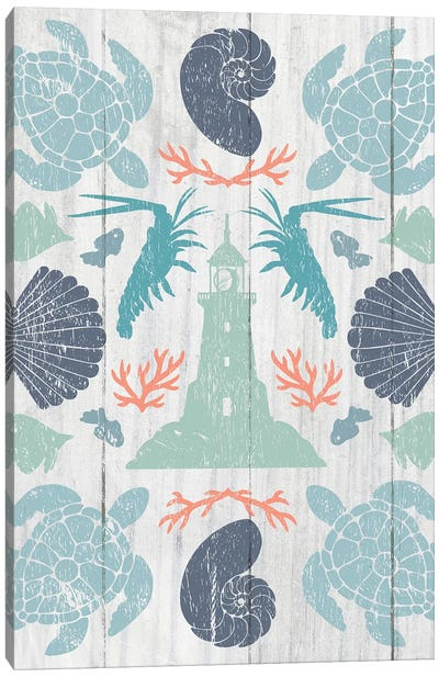 Coastal Otomi III Canvas Art Print