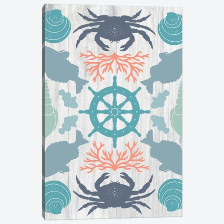 Coastal Otomi IV Canvas Print #WAC5054} by Cleonique Hilsaca Canvas Artwork