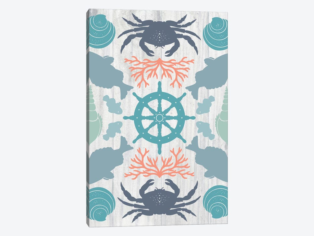 Coastal Otomi IV by Cleonique Hilsaca 1-piece Canvas Print