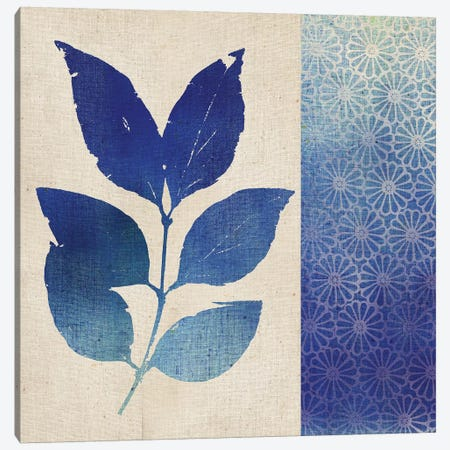 Indigo Leaves I Canvas Print #WAC5055} by Studio Mousseau Canvas Artwork