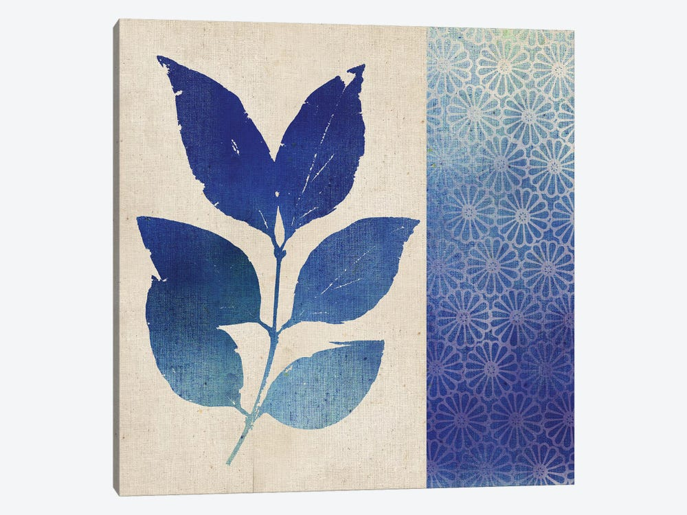 Indigo Leaves I by Studio Mousseau 1-piece Canvas Artwork
